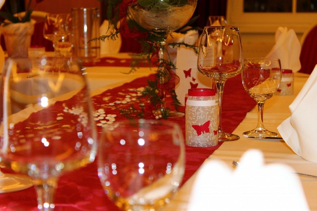 Beispiel: Tischdekoration, Foto: Landhotel Altes Zollhaus.