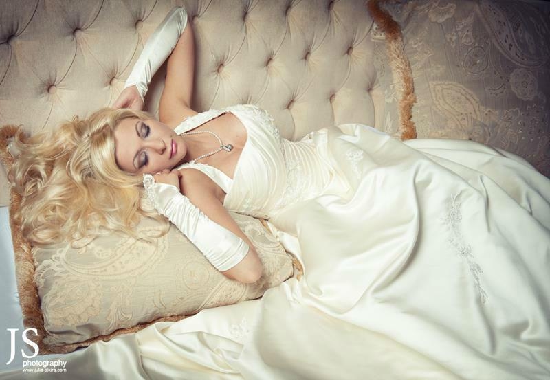 Beispiel: Portrait der Braut, Foto: Julia Sikira Photography.
