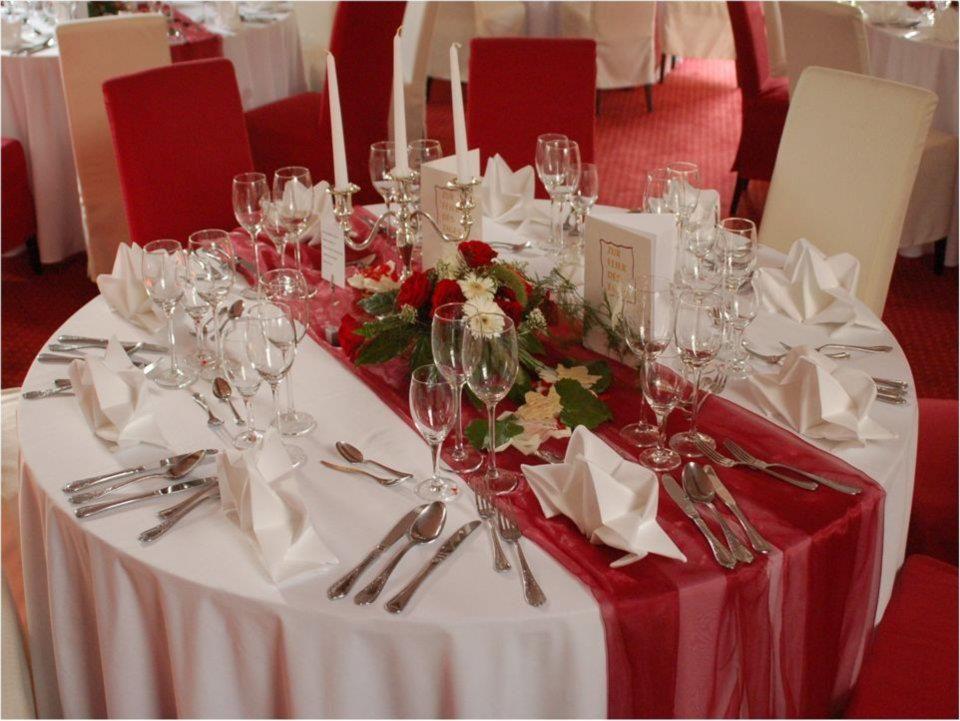 Beispiel: Tischdekoration, Foto: Hotel Antoniushütte.