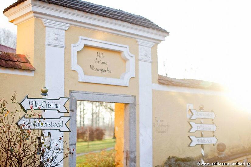 Beispiel: Eingang, Foto: Schloss Mühldorf.