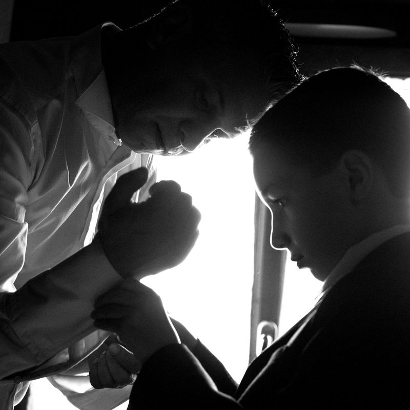 Les préparatifs du marié