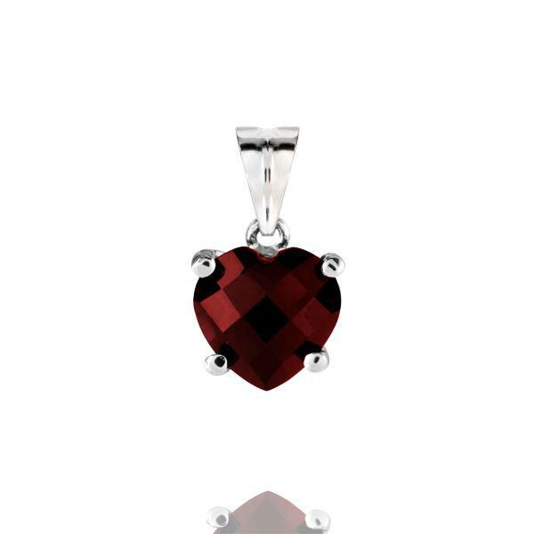 Beispiel: Edelstein Herzform rot, Foto: Pearlfection.