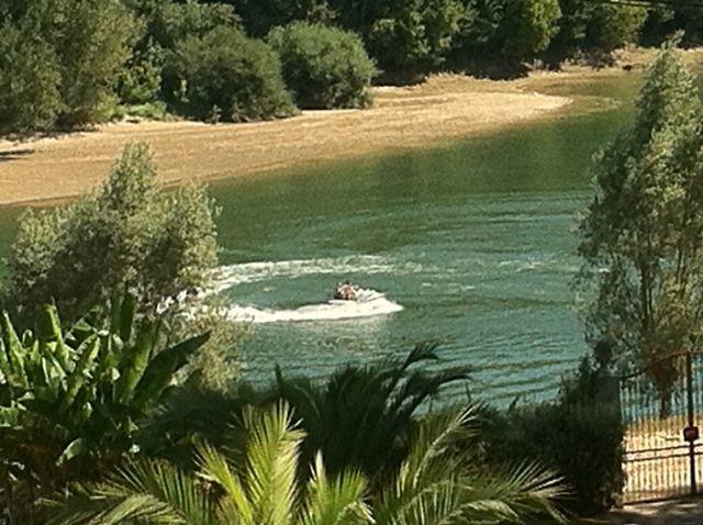 vue sur la Garonne depuis le parc