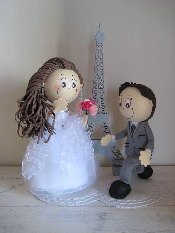 Topo de bolo noivos personalizados