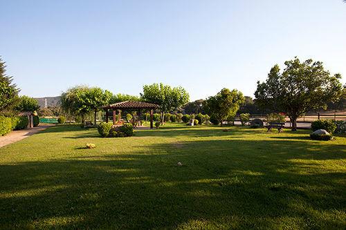 Vista del magnífico jardín de Can Morató