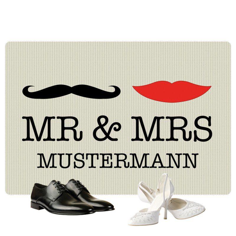 Fußmatte Mr. & Mrs.