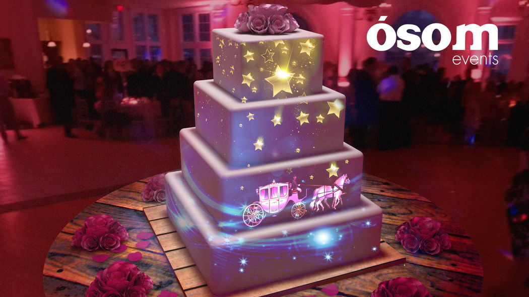 video mapping cake