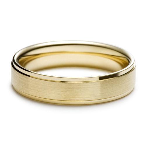 AM12 Aros de matrimonio hechos a medida en oro blanco o amarillo 18K.