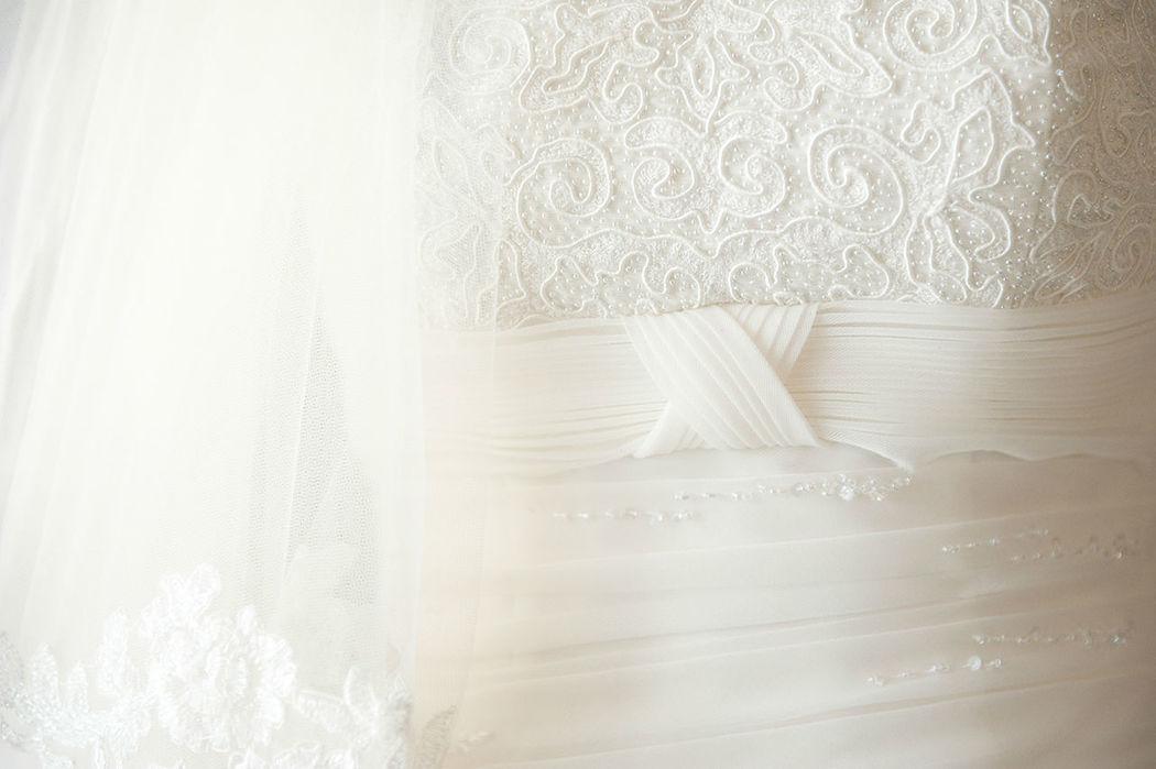 Hochzeitsfotografie, Details, Brautkleid