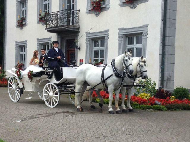 Beispiel: Mit der Kutsche zum Standesamt, Foto: Kutschfahrten Weber.