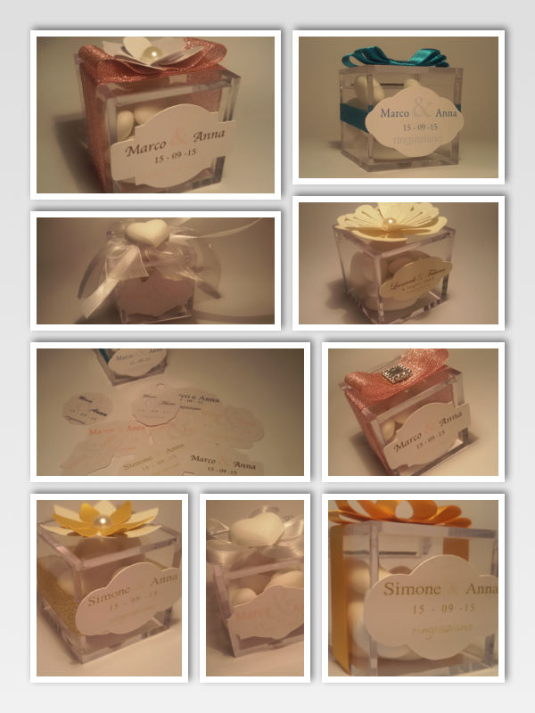 Tag per scatoline confetti e/o bomboniere