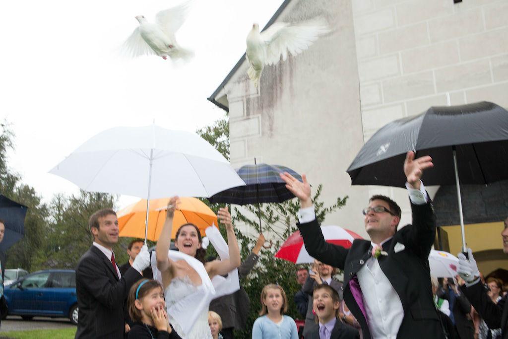 Beispiel: Weisse Tauben, Foto: Most Special Wedding.