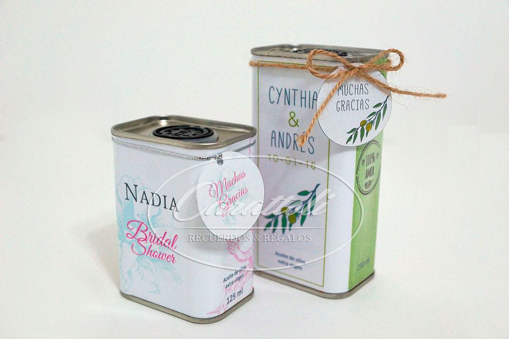 Aceite de oliva presentación en latas 125 y 250ml