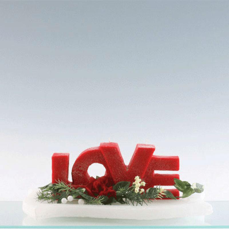 Beispiel: Buchstabenkerzen, Foto: Kerzenwelt.