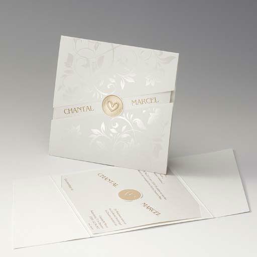 Beispiel: Schlichte Hochzeitseinladung mit Herz, Foto: Druckerei Rokos.