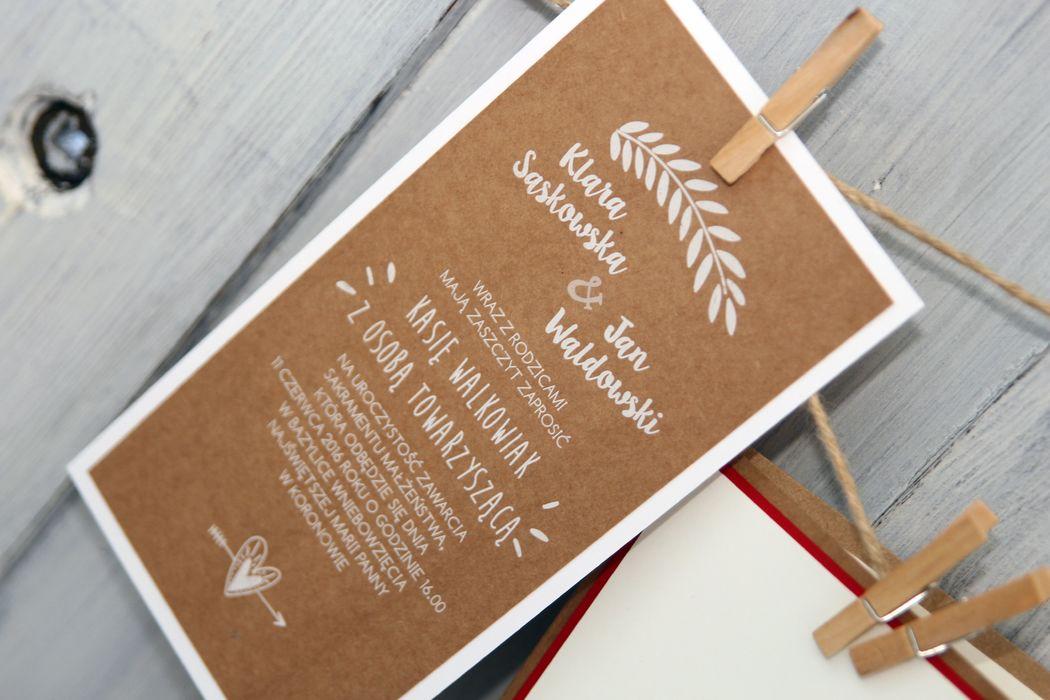 Zaproszenia ślubne z białym drukiem