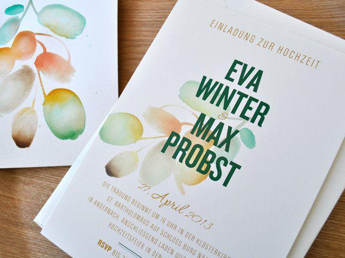 Beispiel: Hochzeitskarten mit einzigartigem Design, Foto: Honeybird.