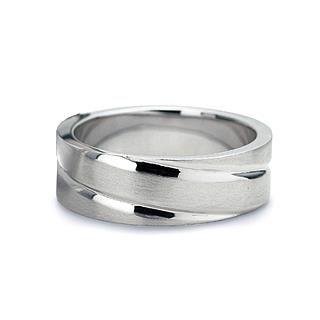 Verse Joaillerie | Alianças de Casamento, Anéis de Noivado Anel largo de ouro branco 18k | VERSE Joaillerie
