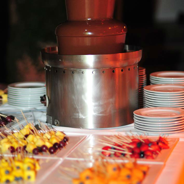 Beispiel: Schokoladenfontäne, Foto: Unikorn Catering & Events.