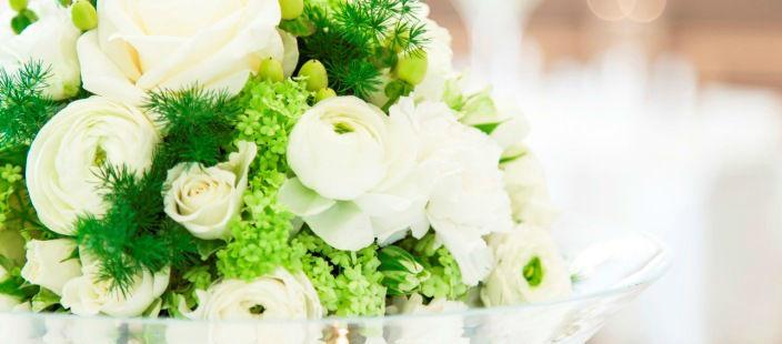 Beispiel: Hochzeits-Arrangement, Foto: Althoff Seehotel Überfahrt.