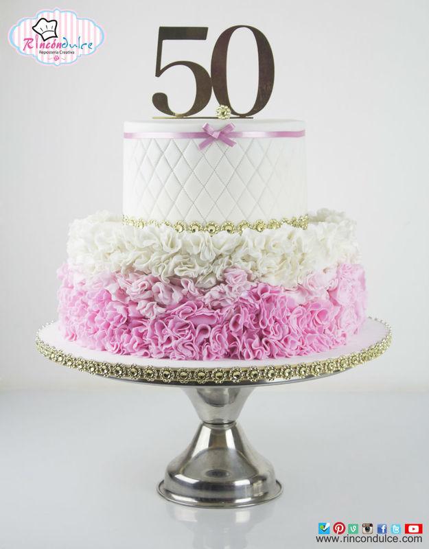 Pastel de 50 años.