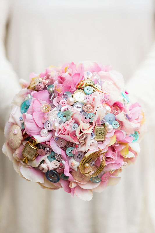 vintage tea party bouquet