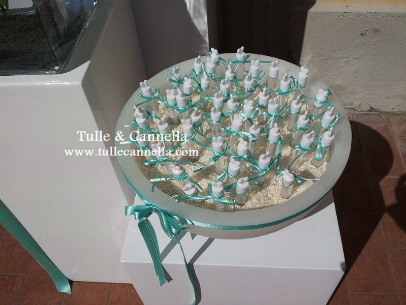 Bolle di Sapone - Tiffany - nastri  - candele - Wedding Planner