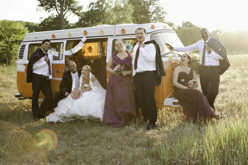 Gruppenfoto bei Hochzeit