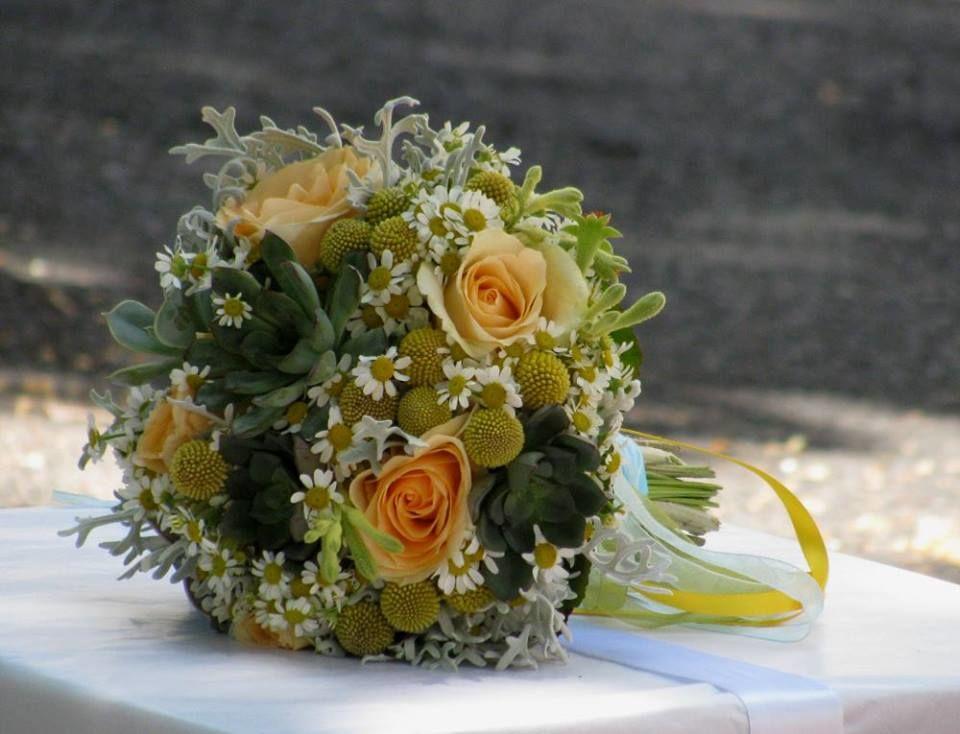 Bouquet de Noiva Flores Campestres e Suculentas
