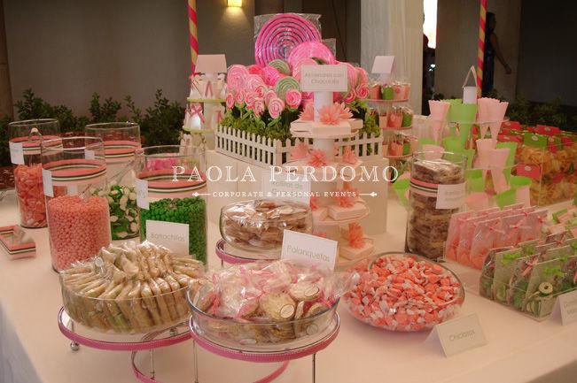 Mesa de dulces para bodas. Foto: Paola Perdomo