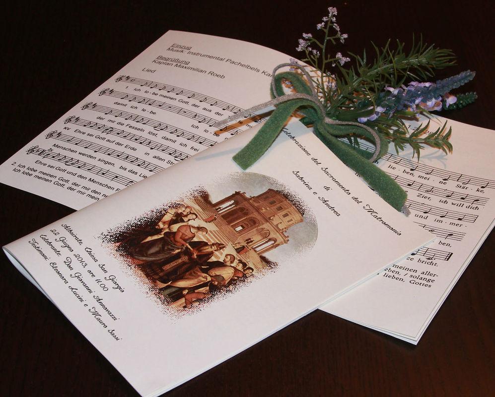 Créer un livret de messe pour votre mariage. http://www.livret-mariage.fr/