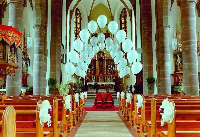 Beispiel: Luftballons Kirche, Foto: Ballon AS.
