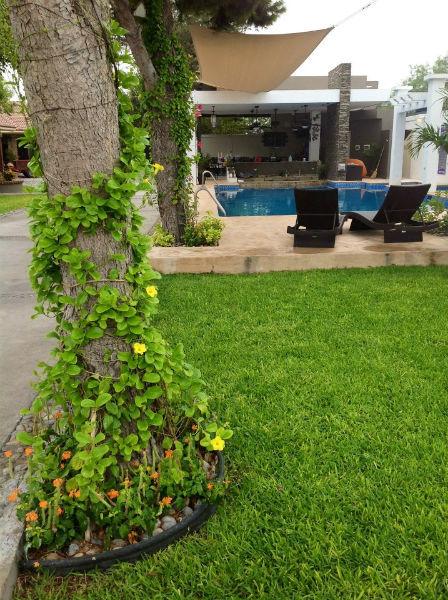 Salones de eventos con piscina y áreas verdes en Monterrey - Foto Quinta Don José