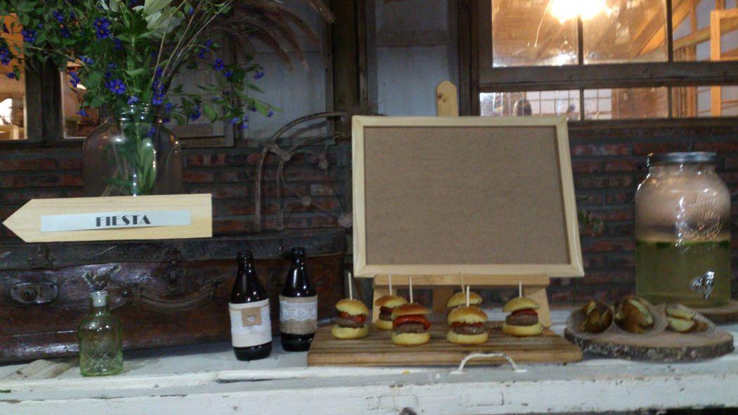 estacion gourmet decoración vintage campestre