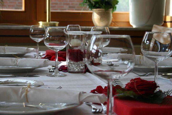 Beispiel: Tischdekoration, Foto: Geuenicher Hof.