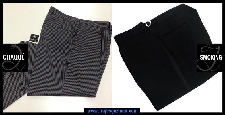 Pantalones de etiqueta de chaqué y smoking