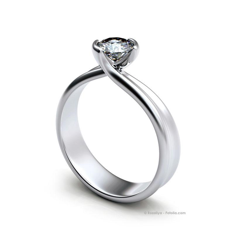 AC18 Anillo de compromiso con diamantes. Hecho a medida en oro blanco o amarillo 18K.