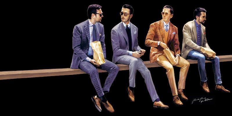 Beispiel: Maßgeschneiderte Herrenanzüge, Foto: Alferano Männer Mode.