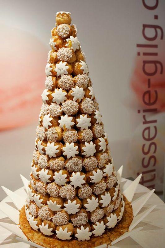 Pâtisserie Gilg : Croquembouche blanc pour un mariage