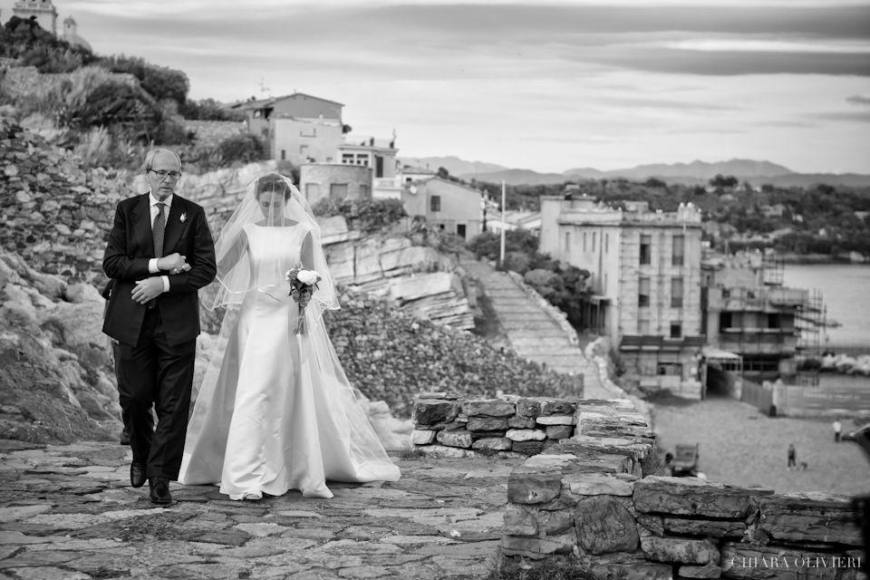 Matrimonio Portovenere sposa con padre