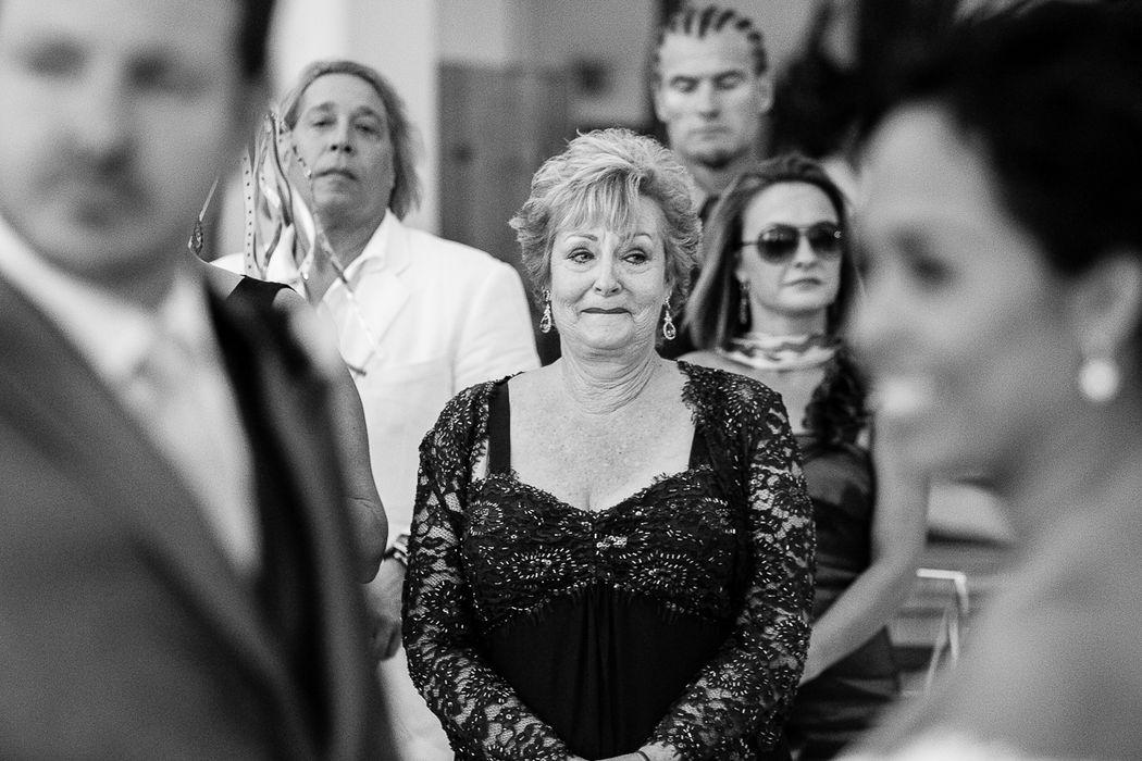 Mamá en la ceremonia, en Puerto Vallarta