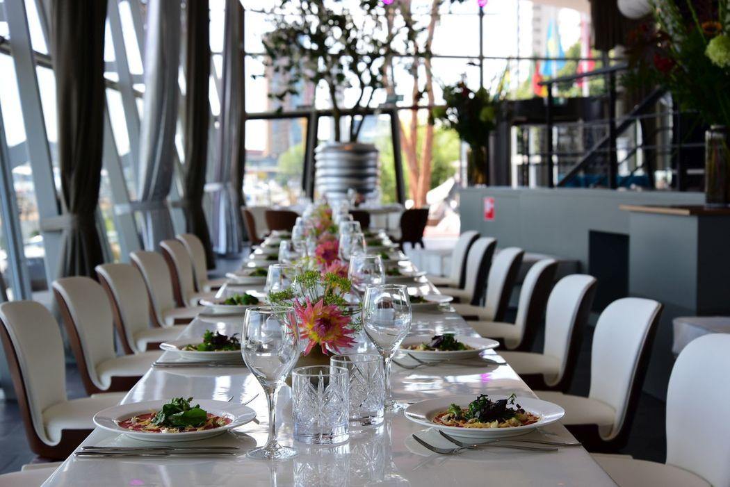 Lange diner tafel