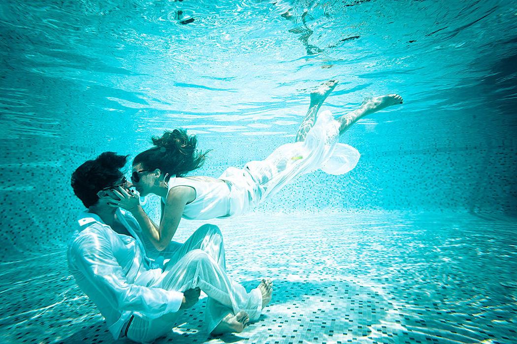 Séance engagement sous l'eau