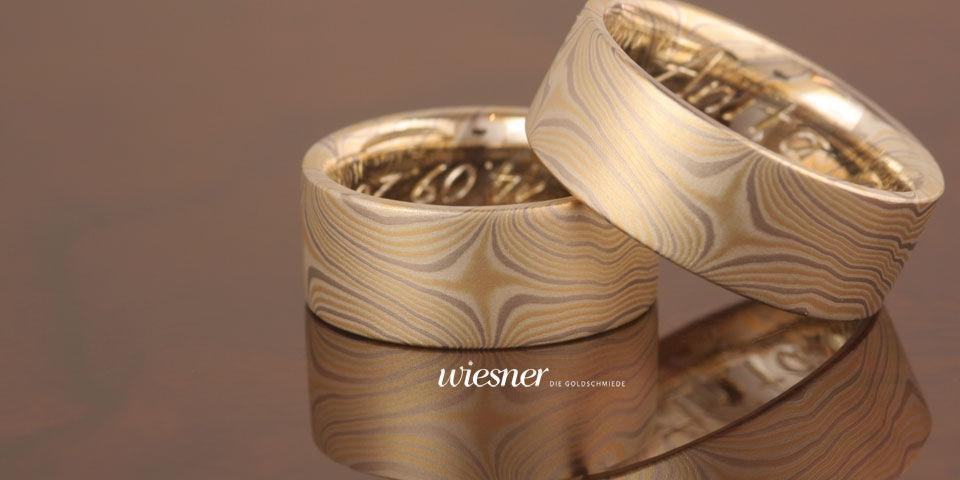 Beispiel: Ehering nach Ihrem Geschmack, Foto: Wiesner - Die Goldschmiede.