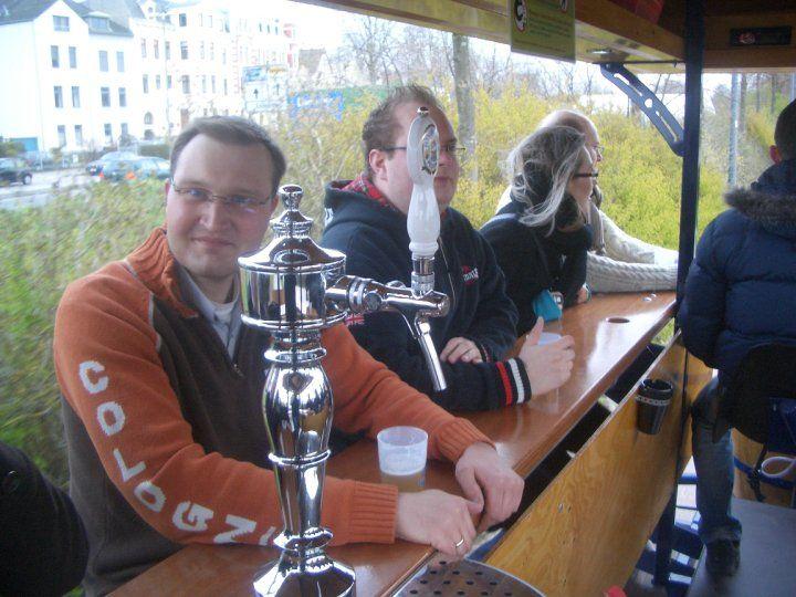 Beispiel: Frisch gezapftes Bier auf dem BierBike, Foto: BierBike Braunschweig.