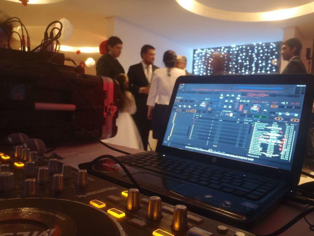 Visual del Dj evento matrimonio