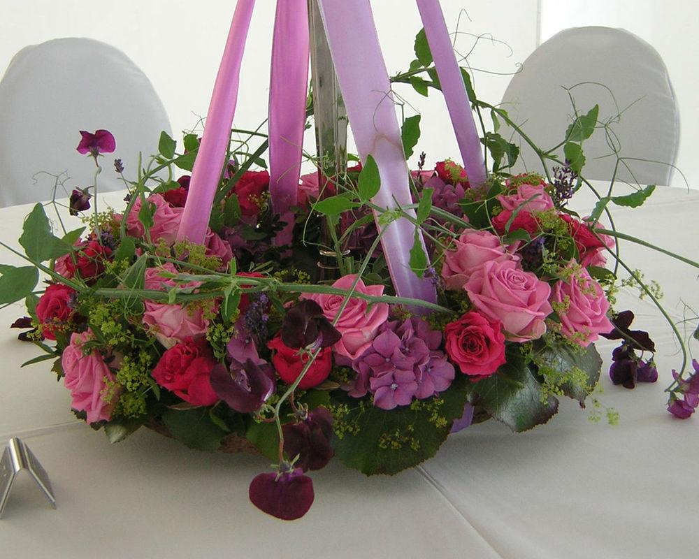 Beispiel: Blumenkunst, Foto: Blumenkunst im Prinz-Karl Palais.