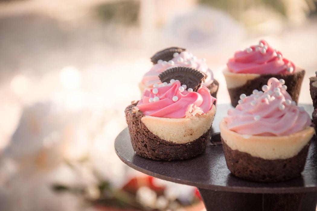 Cupcakes para la mesa de postres