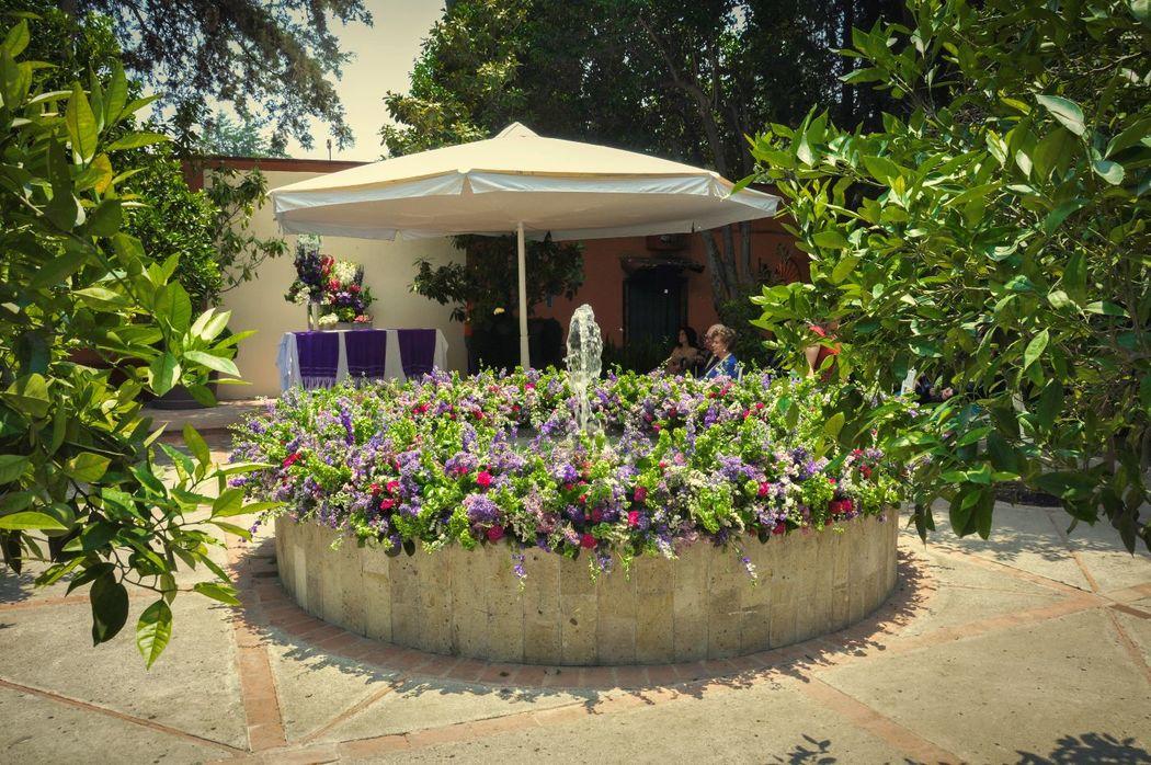 Bella fuente Patio de los Naranjos.