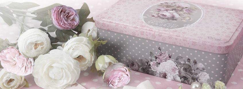 Boîte à sucre mille roses
